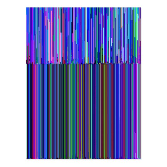 "Colourful ""barcode"" , made from blue stripes postcard"