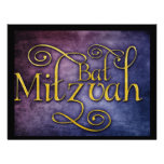 Colourful Bat Mitzvah design Personalized Announcement