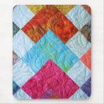 Colourful Batik Quilt Squares Mousemats