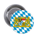 Colourful Bavarian Flag 6 Cm Round Badge