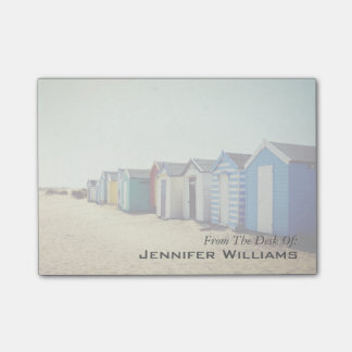 Colourful Beach Huts In The Sun Post-it® Notes