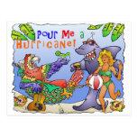 Colourful beach party design. postcards