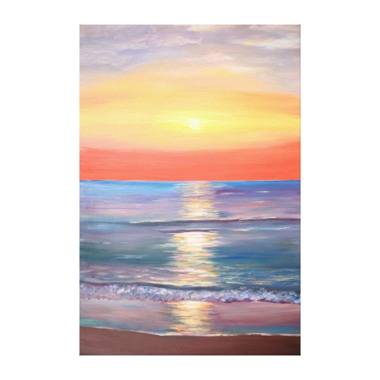 Colourful Beach Sunset Canvas Print