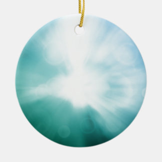 Colourful beautiful abstract blurred ray of colour round ceramic decoration