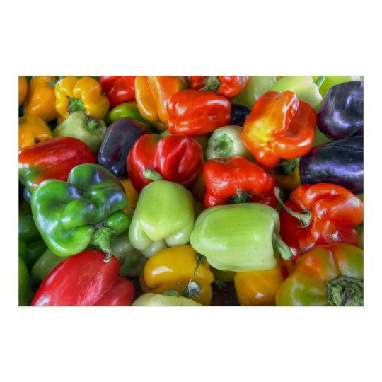 Colourful Bell Peppers Poster