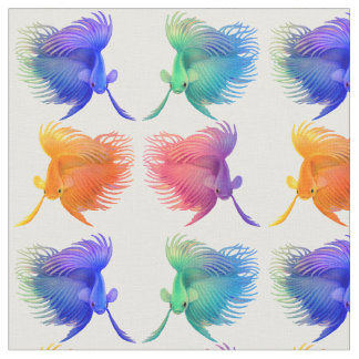 Colourful Betta Splendens Fish Fabric