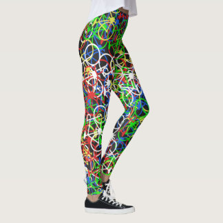 Colourful Bicycles Pattern - Cyclist's Leggings
