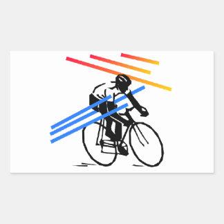 Colourful Bike Cycling Rectangular Sticker