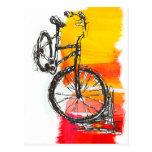 Colourful Bike Designs Post Card