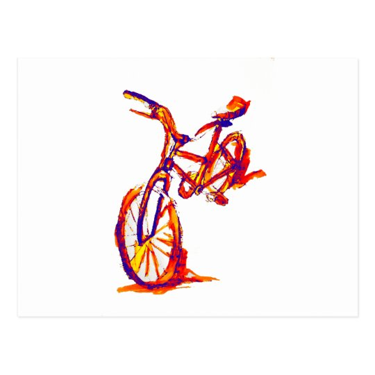 Colourful Bike Designs Postcard