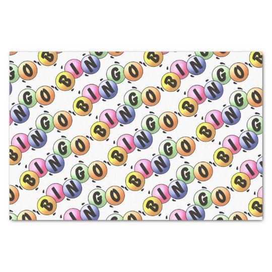Colourful Bingo Tissue Paper
