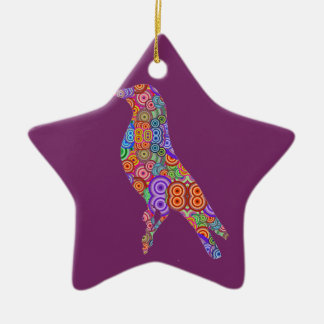 Colourful Bird Christmas Ornament