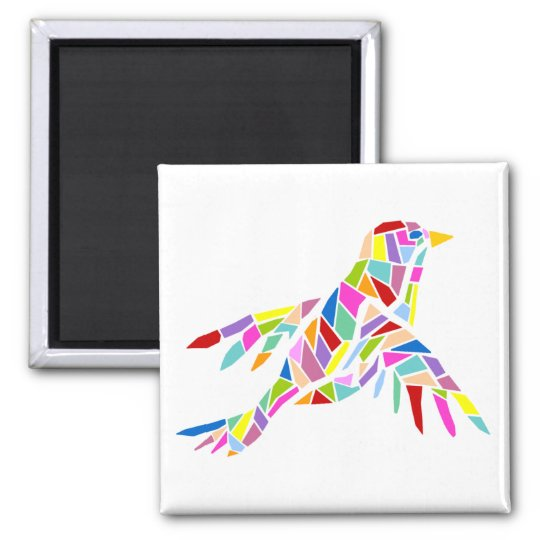 Colourful bird magnet