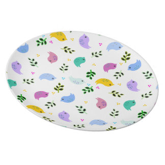 Colourful Birds Cheerful Plate