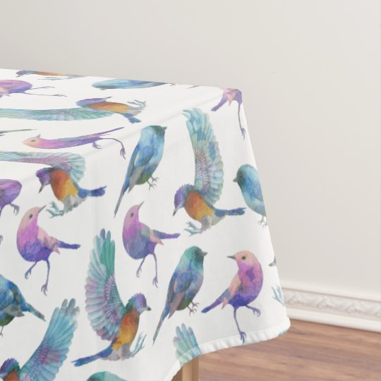 Colourful Birds Seamless Pattern Tablecloth