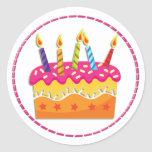 Colourful Birthday Cake Stickers