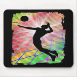 Colourful Blast Beach Volleyball Mousemats