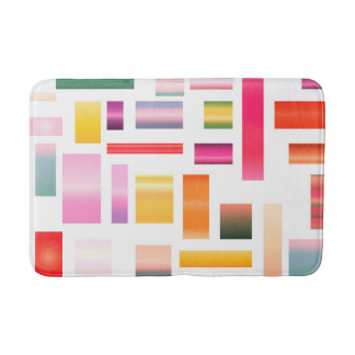 Colourful Block Pattern Bath Mat