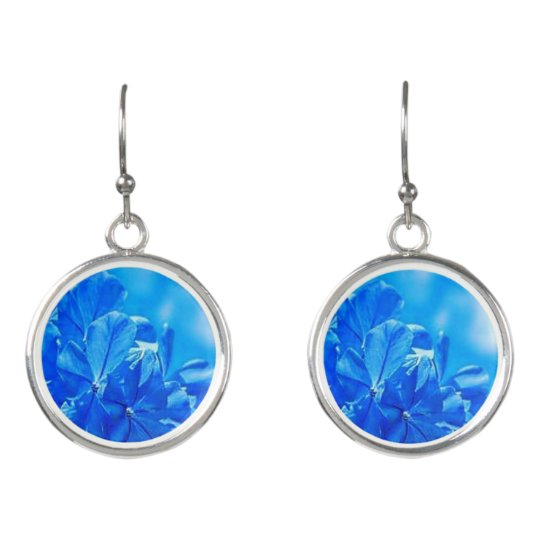 Colourful Blooming Bluebells Drop Earrings