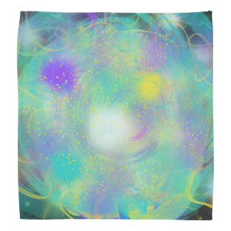 Colourful Blue Abstract Art Painting Design Bandana