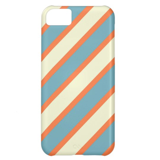 Colourful Blue and Orange Diagonal Stripes Pattern iPhone