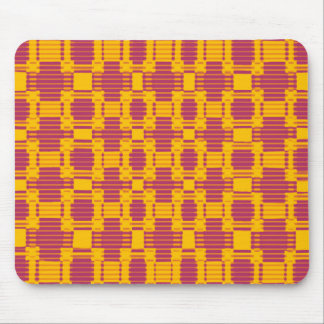 Colourful blurred chequered pattern mouse mat