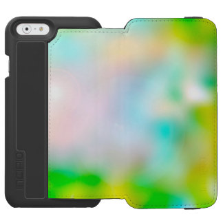 Colourful blurred flowers incipio watson™ iPhone 6 wallet case