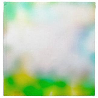 Colourful blurred flowers napkin