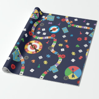 Colourful Board Game Pattern Wrapping Paper