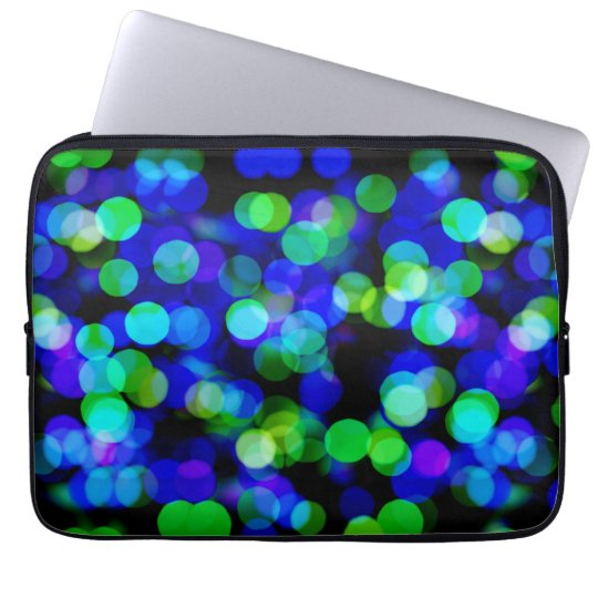 Colourful bokeh lights laptop sleeve