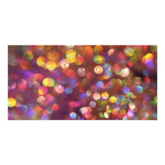 Colourful Bokeh Pattern Photo Cards