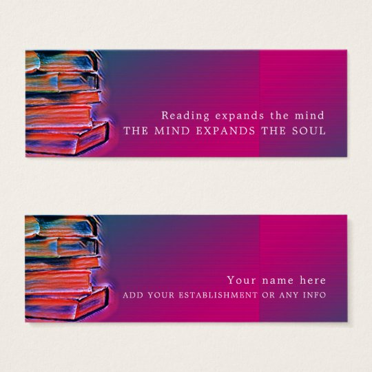 Colourful Books, Bookmark Mini Business Card