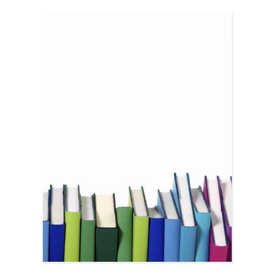 Colourful Books Postcard