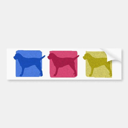Colourful Border Terrier Silhouettes Bumper Sticker
