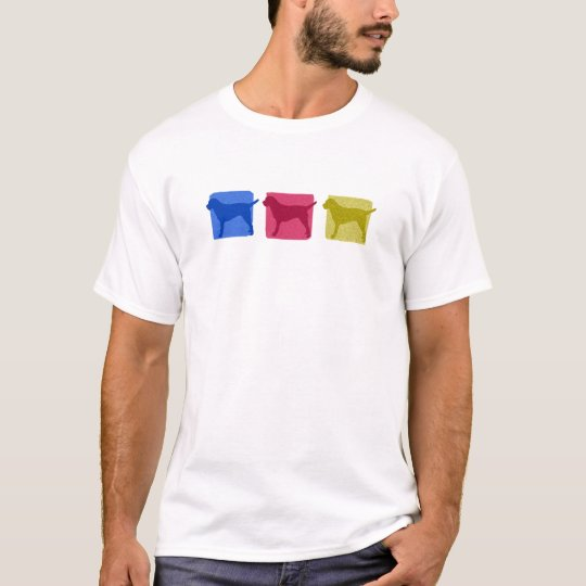 Colourful Border Terrier Silhouettes T-Shirt