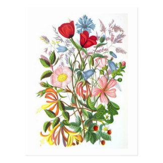 Colourful Bouquet Postcard