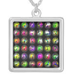 Colourful Bowling Balls Personalised Necklace