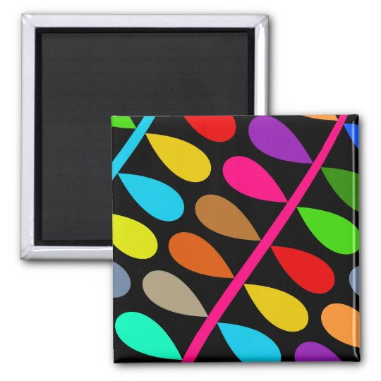 Colourful Branch Square Magnet