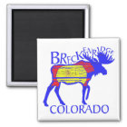 Colourful Breckenridge Colorado moose magnet