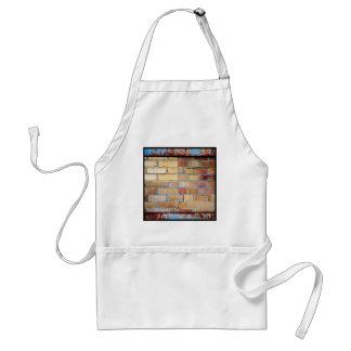 Colourful brick pattern adult apron