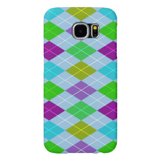 Colourful Bright Harlequin Geometric Pattern Samsung Galaxy S6 Cases