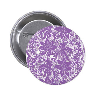 Colourful bright lace 6 cm round badge