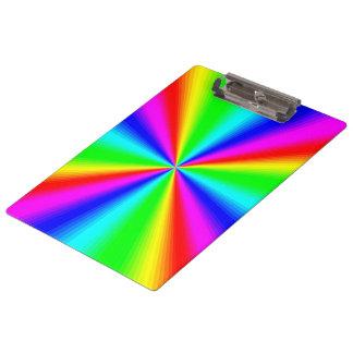 Colourful Bright Rainbow Clipboard