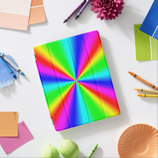 Colourful Bright Rainbow iPad Cover