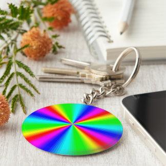 Colourful Bright Rainbow Key Ring
