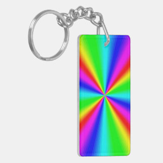 Colourful Bright Rainbow Key Ring