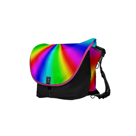 Colourful Bright Rainbow Messenger Bags