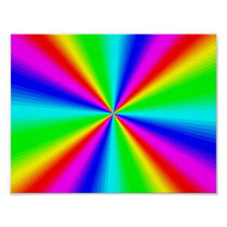 Colourful Bright Rainbow Poster