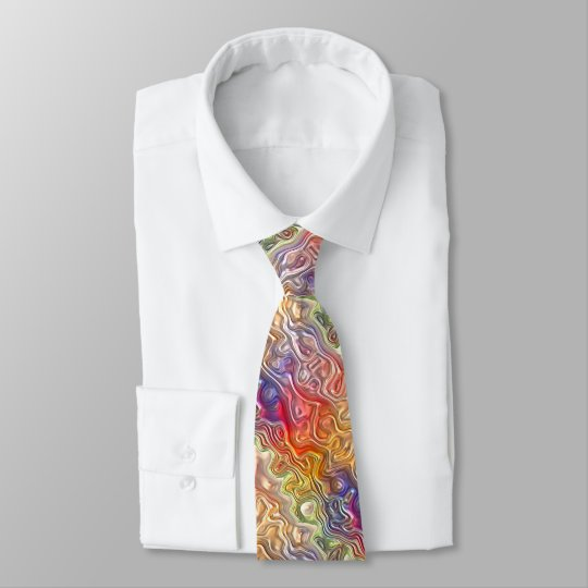 Colourful Bright Stylish Abstract Swirl Pattern Tie