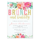 Colourful Brunch & Bubbly bridal shower invitation